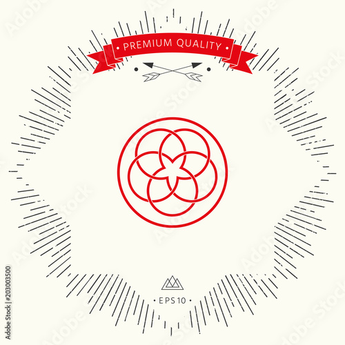 Traditional geometric oriental arabic pattern. Logo. Element for your design
