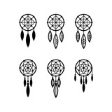 Dream catcher icon set - 203024305
