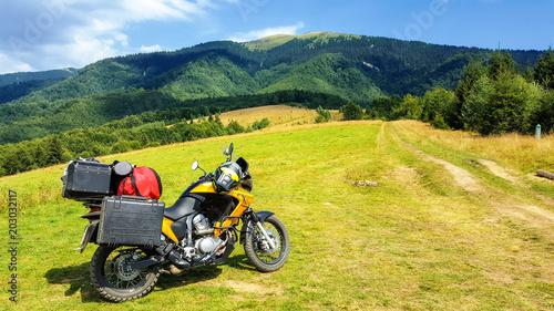 Motorcycle at the Kolochava Pass