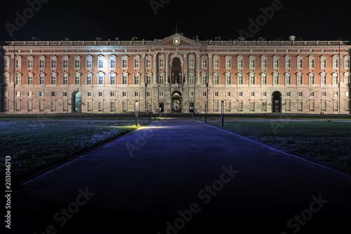 Plexiglas Napels Reggia di Caserta in notturna