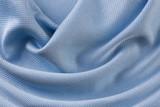 Babybau Tuch Seide Struktur Gewebe hellblau Stoff Seide Luxus Material Glanz Textur Macro Closeup Hintergrund - 203047373