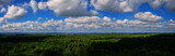 Wald Panorama Luftaufnahme - Weiter Horizont mit wolkigem Himmel
