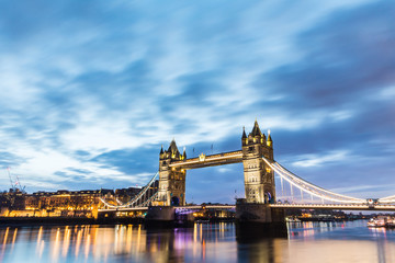 London, Tower Bridge beautiful view at sunrise