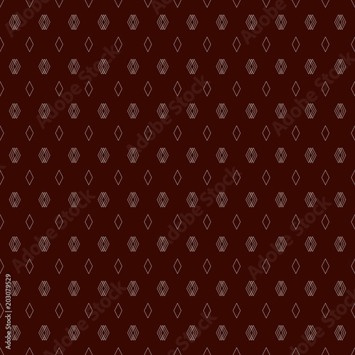 Contemporary seamless pattern with geometric figures. Repeated diamond abstract background. Rhombuses and lozenges motif