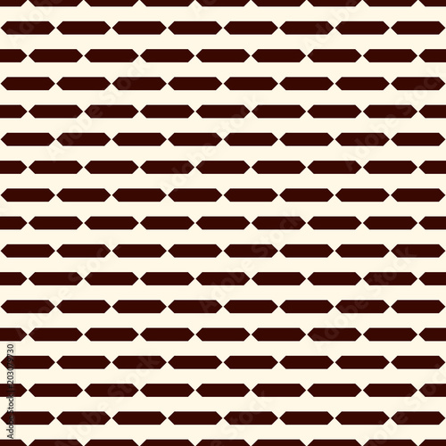 Seamless surface pattern with broken horizontal lines. Dashes motif. Repeated rectangle blocks. Hatched wallpaper.