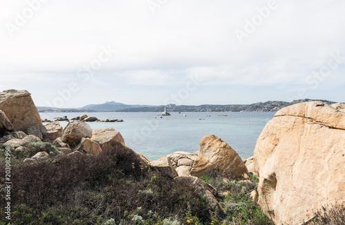 La Maddalena village in La Maddalena island, Sardinia, Italy