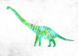 Fototapeta Dinusie - Dynosaur brachiosaurus vivid © anna42f