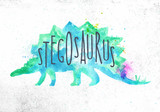 Dynosaur stegosaurus vivid - 203085918