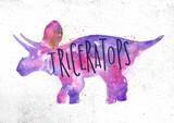 Dynosaur triceratops vivid - 203085981