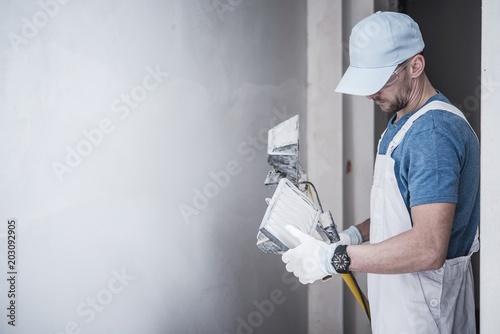 Obraz na płótnie Caucasian Construction Worker