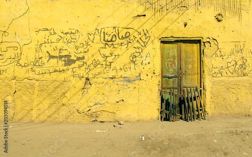 Opuszczony budynek pustyni