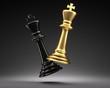 Schachfiguren Gold Schwarz