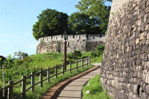 Plexiglas Seoel Burgmauer von Seoul