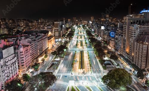 Fotobehang Buenos Aires City of Buenos Aires at night