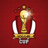 Soccer world cup emblem vector illustration graphic design - 203172133