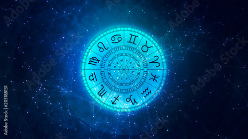 Zodiac astrology signs for horoscope © Bits and Splits