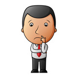 Cartoon sad businessman - 203194380