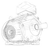 Electric motor outline. Vector - 203205364