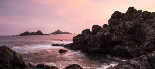 Iles Sanguinaires Korsika bei Sonnenuntergang