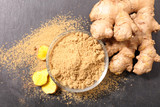 ginger powder and root - 203209575