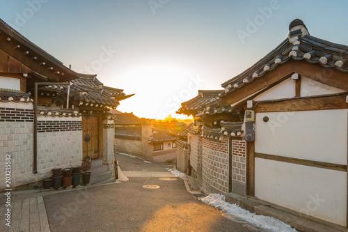 Plexiglas Seoel Bukchon Hanok Village in Seoul city, South Korea