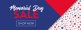 Memorial day sale vector banner template - 203220319
