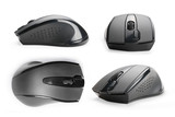 Computer mouse views collection isolated with clipping path - 203245150