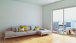 Постер, плакат: Modern bright interiors room 3D rendering illustration