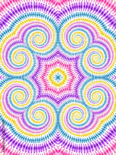 Tie dye background boho hippie vector shibori rainbow texture 1 - 203279797