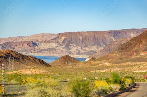 Plexiglas Blauw Desert