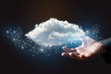 Data cloud in the hand . - 203283968