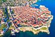Leinwanddruck Bild Town of Dubrovnik UNESCO world heritage site aerial view