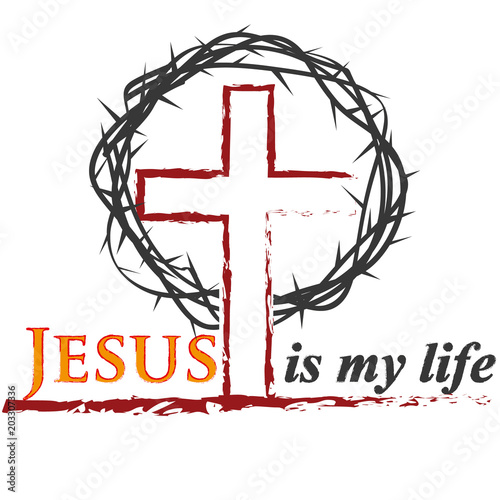 biblical inscriptions christian art jesus is my savior christian