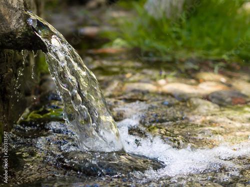 Leinwandbild Motiv natural spring water