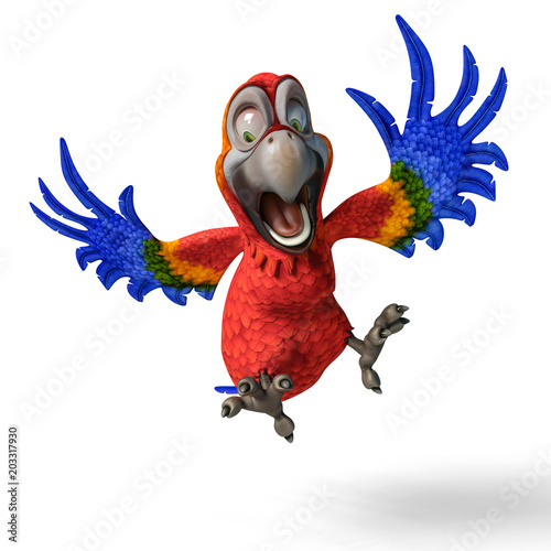 Fototapeta tropical parrot cartoon