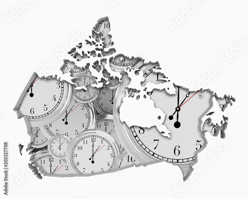 Canvas Canada Canada Clock Time Passing Forward Future 3d Illustration