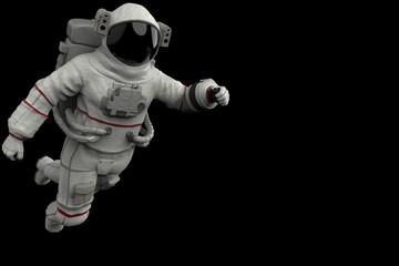 astronaut exploring arround