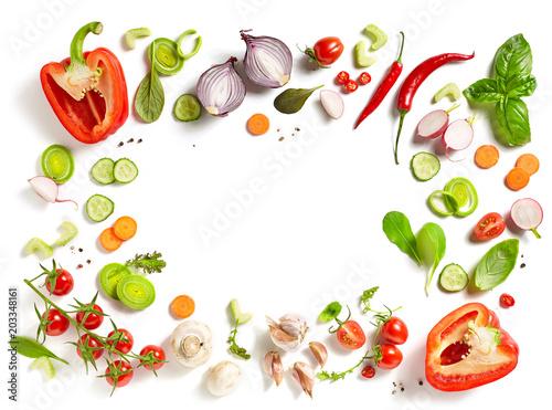 Foto Murales various fresh vegetables
