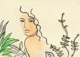 beautiful woman. fashion illustration. watercolor painting - 203355566