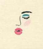 beautiful woman. fashion illustration. watercolor painting - 203355593