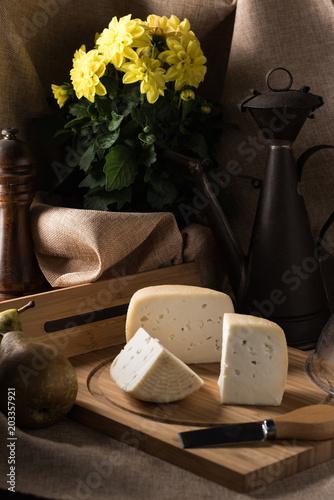 Fototapeta assortments of Italian cheeses