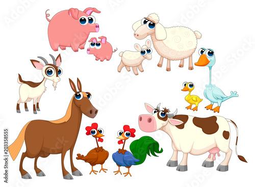 Plexiglas Kinderkamer Family farm animals
