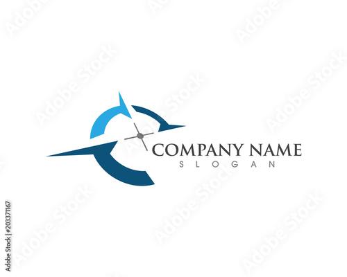 Compass Logo Template vector icon - 203371167