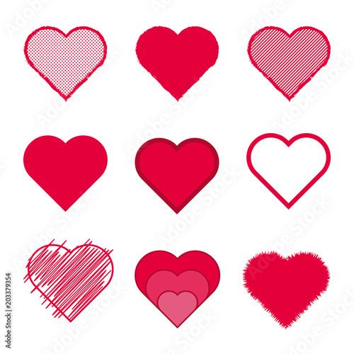 9 Vektor Herzen