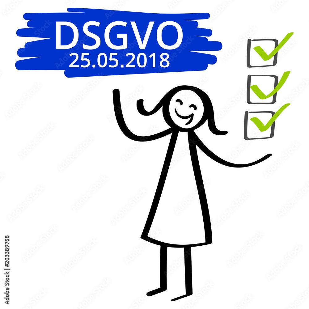 Dsgvo Datenschutzgrundverordnung Frist Bis 25052018 Strichmännchen