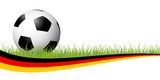 soccer ball with german banner - 203402398