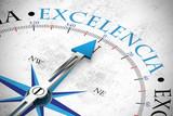Excelencia / Excellence als Konzept auf Kompass - 203404117