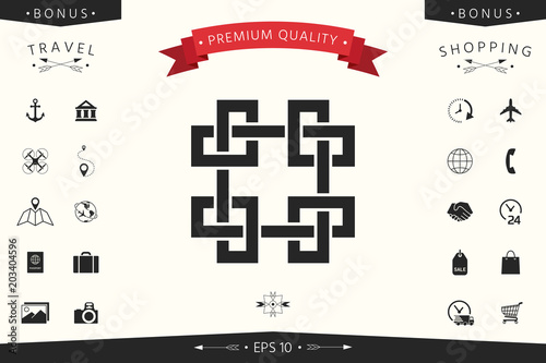 Traditional geometric oriental arabic pattern. Element for your design - Logo