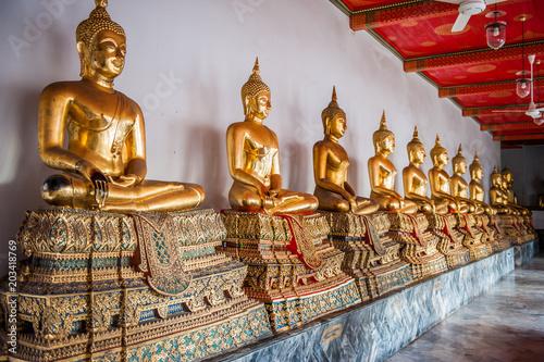 Plexiglas Boeddha Temples Bangkok, Thailande