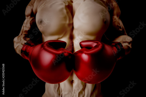 © PixlMakr - Fotolia.com Boxer with red gloves